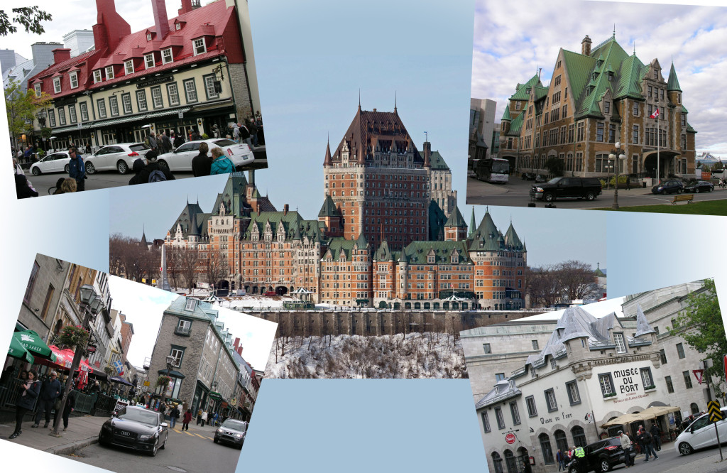 Collage of pictures from Quebec