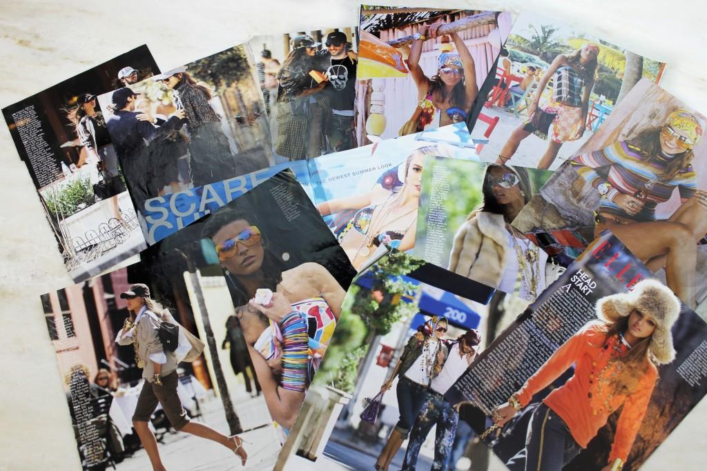 Cutouts of Carolyn Cerf De Dudzeezle 's work